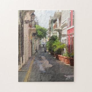 Quiet street of San Juan Puerto Rico Jigsaw Puzzle