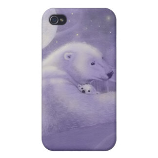 Quiet Winter Polar Bear iPhone 4 Case