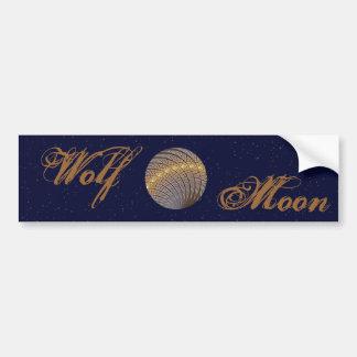 Quiet Wolf Moon Bumper Sticker