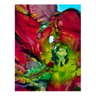 Quietly life with talk Tulips Postcard