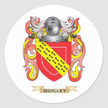 Quigley Coat of Arms (Family Crest) Round Stickers