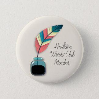 Quill in Ink Bottle 1 6 Cm Round Badge