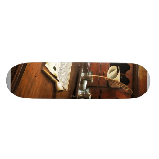 Quill, Papers and Pipe Custom Skateboard