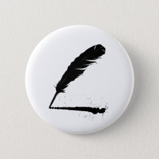 Quill with Ink 6 Cm Round Badge