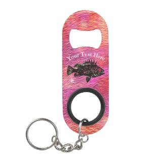 Quillback On Pink - Mini Bottle Opener Keychain