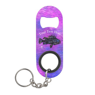 Quillback On Purple - Mini Bottle Opener Keychain