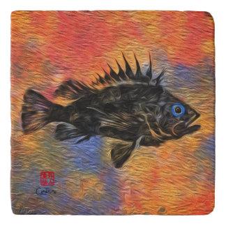 Quillback Rockfish - Marble Trivet