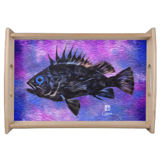 Quillback Rockfish on Purple - Small Serving Tray