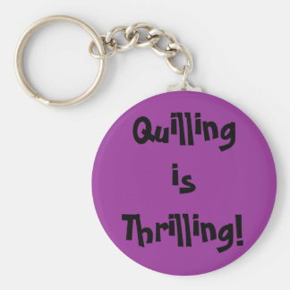 Quilling is Thrilling! Basic Round Button Key Ring