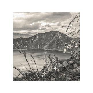Quilotoa Lake Latacunga Ecuador Canvas Print