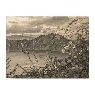 Quilotoa Lake Latacunga Ecuador Wood Wall Decor
