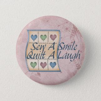 Quilt a Laugh 6 Cm Round Badge