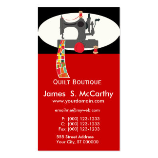 Quilt Antique Sewing Machine Pack Of Standard Business Cards