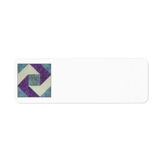 Quilt Block Address Label