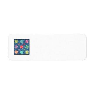 Quilt Block K Return Address Label