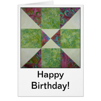 Quilt Block Quotes Birthday Card