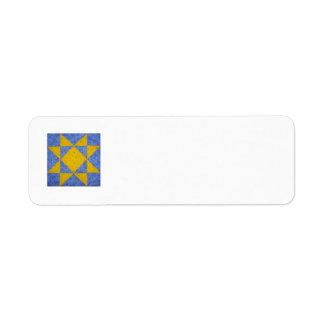 Quilt Block Return Address Labels Blue