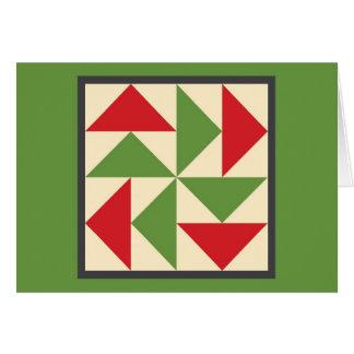 Quilt Christmas Card - Dutchman's Puzzle
