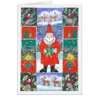 """Quilt"" Custom Christmas Card"
