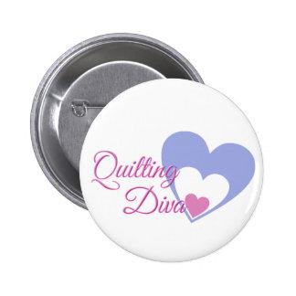 quilt-diva 6 cm round badge