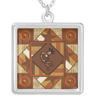 Quilt Indian Kokopelli Necklace