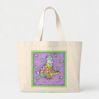 Quilt Lover Dog Tote Bag