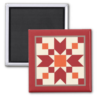 Quilt Magnet - Stepping Stones (turkey red)