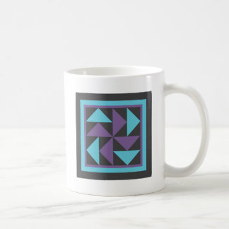 Quilt Mug - Flying Dutchman (black/purple/blue)
