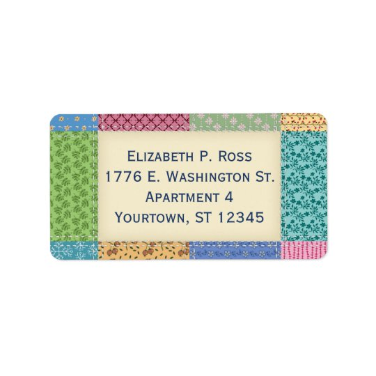 Quilt Patchwork Custom Address Label