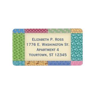 Quilt Patchwork Custom Label