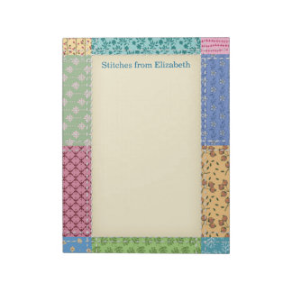 Quilt Patchwork Custom Notepad