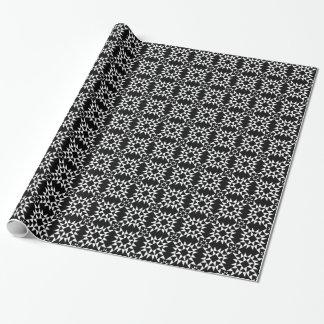 Quilt Pattern 01 - White on Black