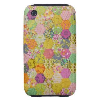 Quilt pattern iPhone 3 tough case