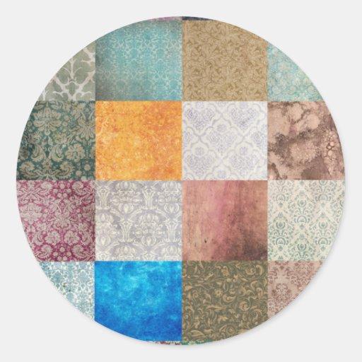 Quilt pattern sticker