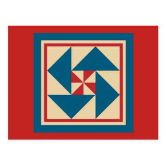 Quilt Postcard - Patriotic Spin (red)