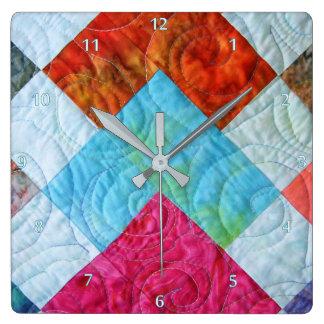 Quilt Square Design Wallclock