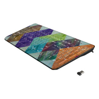 Quilt Squares Wireless Keyboard