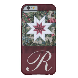 Quilt star maroon barely there iPhone 6 case