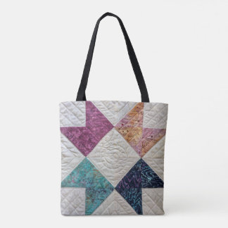 Quilted Batik Tote Bag