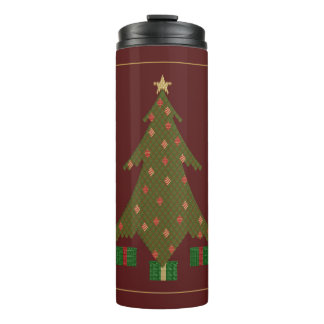 Quilted Christmas Thermal Tumbler
