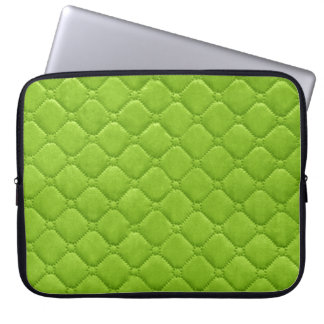 Quilted Look Lime Green Computer Sleeve
