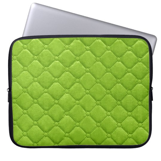 Quilted Look Lime Green Laptop Sleeve