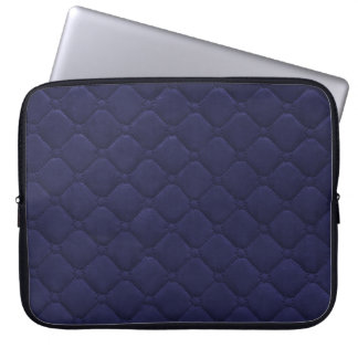 Quilted Look Navy Blue Laptop Sleeve