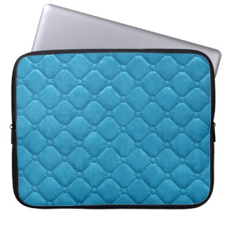 Quilted Look Turquoise Laptop Sleeve