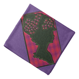 Quilted Red Berry Bonnet Do-rag