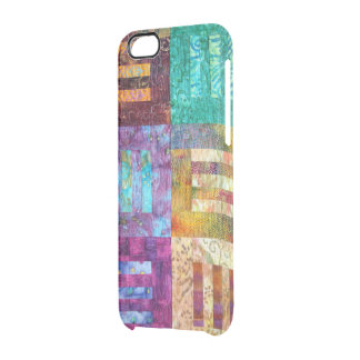 Quilted Squares Design Clear iPhone 6/6S Case