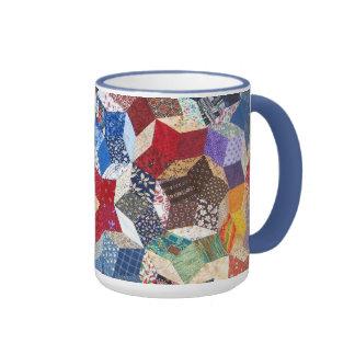 Quilted Stars Ringer Mug