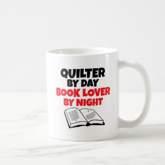 Quilter by Day Book Lover by Night Basic White Mug