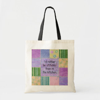 Quilter Humor Patchwork Tote Bag