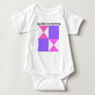 Quilter-in-training 4-Patch Hourglass Baby Bodysuit